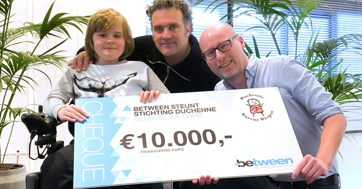 Between steunt Stichting Duchenne